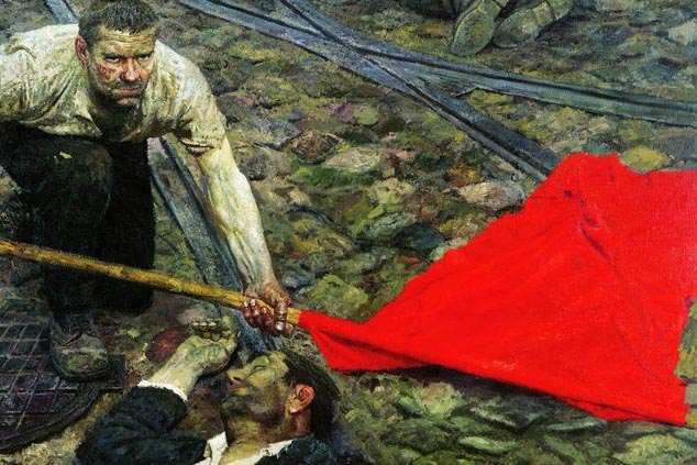 | Picking up the Banner 19571960 painted by Gely Mikhailovich | MR Online