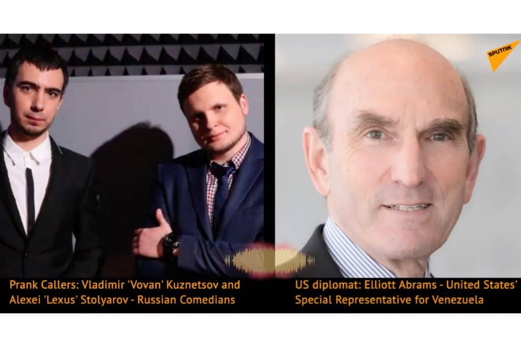 | Prank callers on the line with Elliott Abrams | MR Online