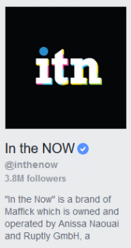 The statement of ownership In the Now was forced to run to be allowed back on Facebook.