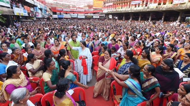 Women's Parliament in Palghat, Kerala, in support of the Left Democratic