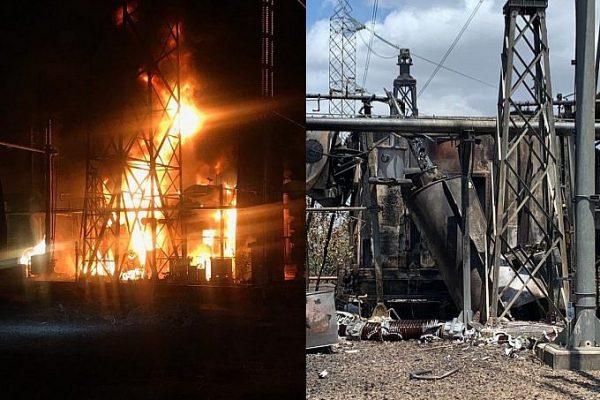 Three transformers in the Guri Dam switchyard were allegedly set on fire on Monday evening
