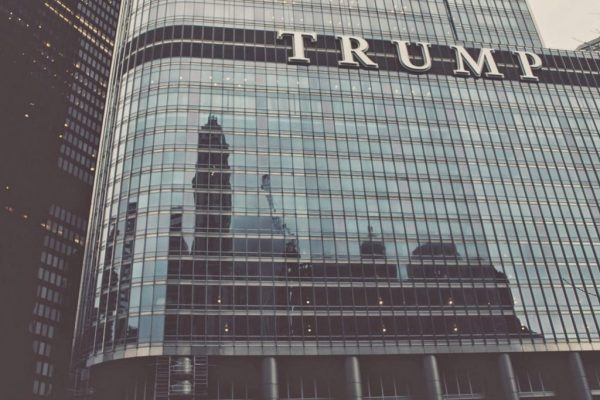 Trump building in Chicago, IL. Photo by Eric Muhr.