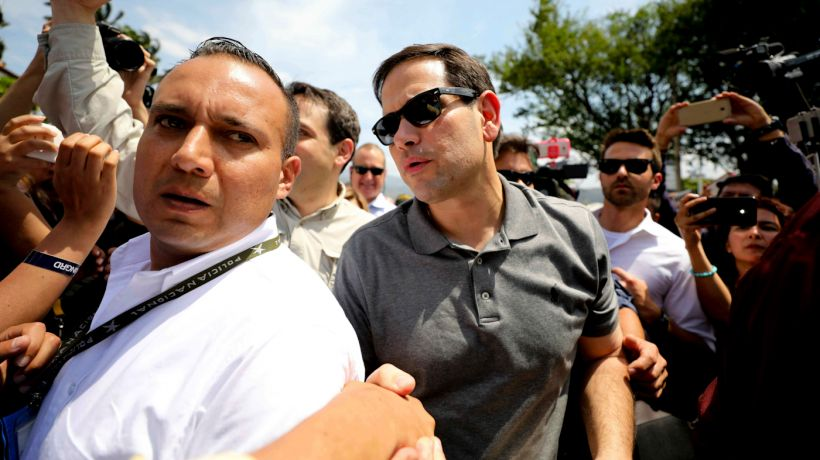 "Senator Marco Rubio visited Cúcuta to capitalize politically on the arrival of ""humanitarian aid"""