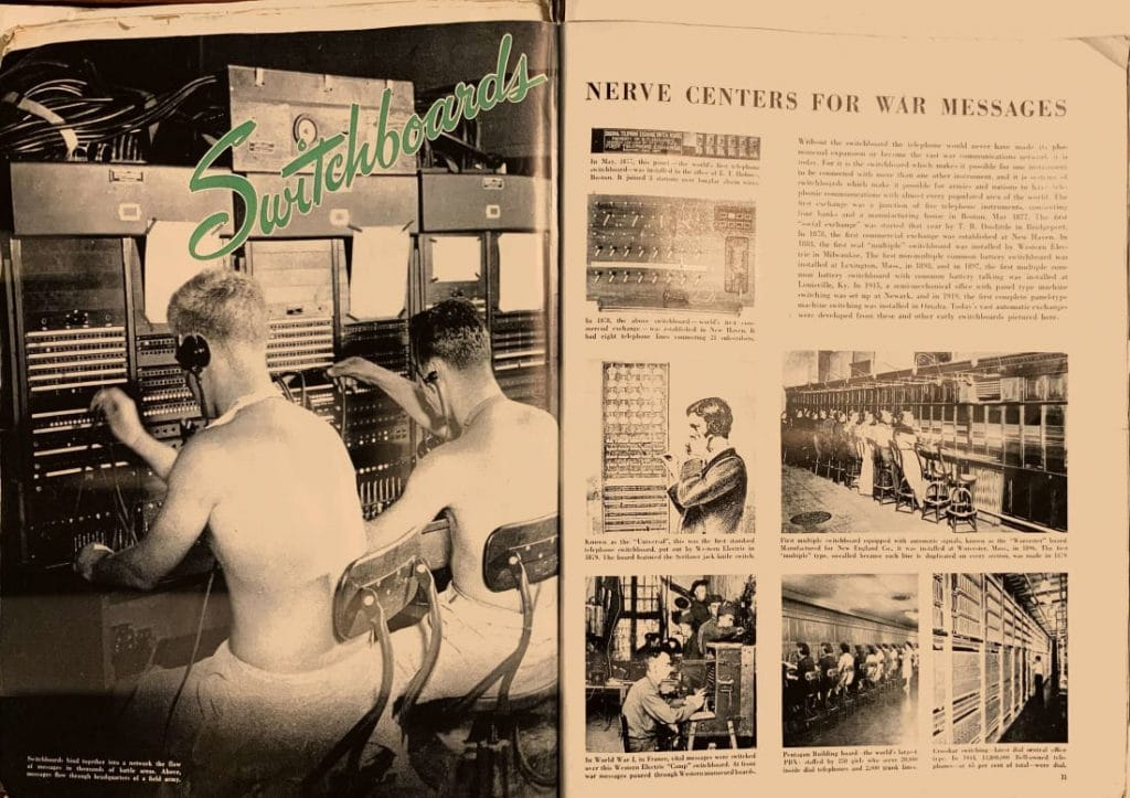 """Switchboards — Nerve Centers for War Messages"""