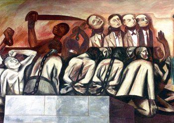 José Clemente Orozco. Struggle in the Orient: Slavery, Imperialism & Gandhi, 1930.