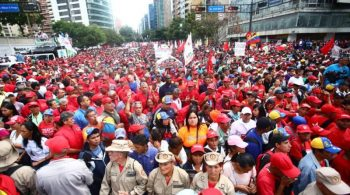 Chavista rally in Caracas, March 2019.