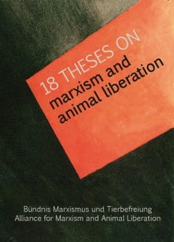 Cover of 18 Theses on Marxism and Animal Liberation, January 2017