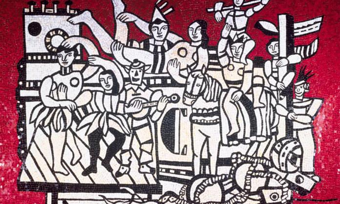 | Fernand Léger mosaic Grand parade with red background 1985 | MR Online