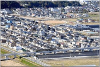 Housing near to Fukushima Nuclear Plant