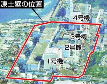 No. 1 to No. 4 in Fukushima Daiichi Nuclear Power Plant.