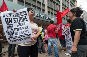 | IWGB workers protesting at John Lewis in August 2012 | MR Online