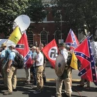 Image from Unite the Right rally in Charlottesville, August 2017, courtesy of Anthony Crider:Flickr.