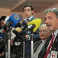 International Federation of the Red Cross speaking about humanitarian aid to Venezuela