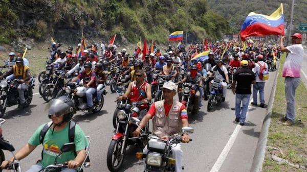 La fuerza motorizada del chavismo es uno de los objetivos estadounidenses a demonizar (Foto- Henry Tesara : AVN)