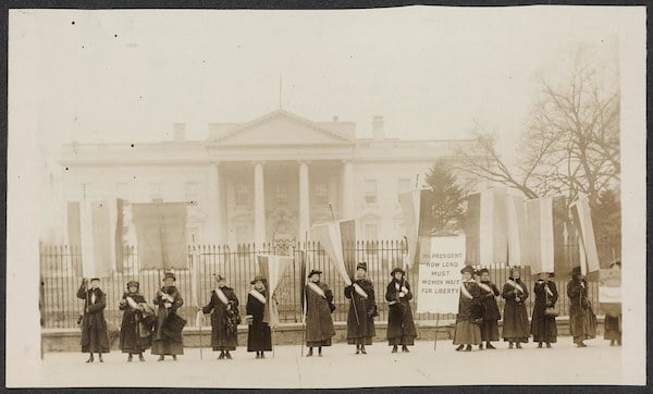 Picket Line, 1917. US Embassy The Hague : Flickr