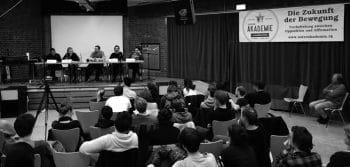 The conference in Hamburg, 2018, organized by the Alliance for Marxism and Animal Liberation, discussing socialist perspectives in the animal liberation movement.