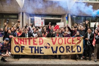 | UVW protest at the Ministry of Justice in January 2019 | MR Online