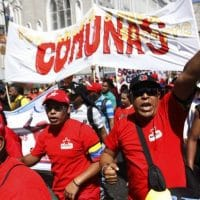 Chavista march in central Caracas