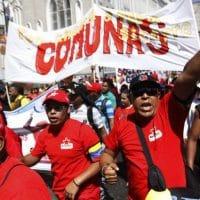 Chavista march in central Caracas