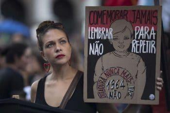 Leo Correa, Rio de Janeiro, Brazil. Never Commemorate. Remember So That We Never Repeat. No More Dictatorship, 31 March 2019.