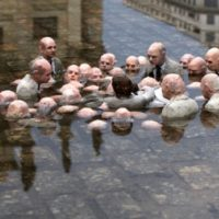 Follow the leaders, Berlin, 2011. Art and photo by Isaac CordalFollow the leaders, Berlin, 2011. Art and photo by Isaac Cordal