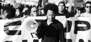 Director Boots Riley at Occupy Oakland.