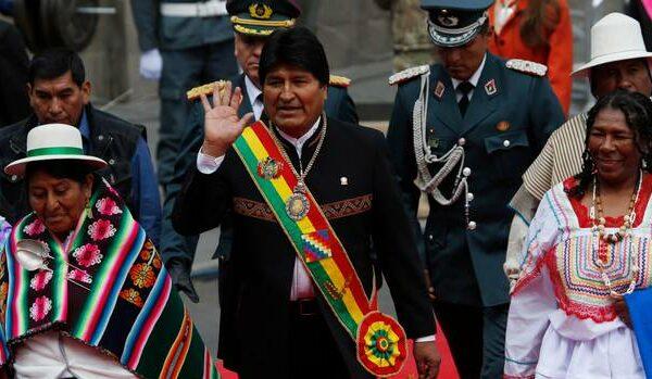 Evo Morales marks 13 years as Bolivia's president as he plans to ... Independent.ie Bolivia's President Evo Morales waves as he arrives at Congress (Juan Karita:AP)