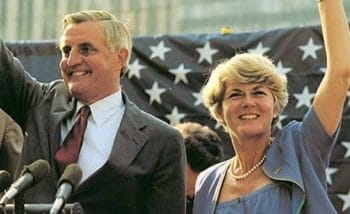 Harrington would support conservative Democrat Walter Mondale in the 1984 election.