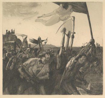 Käthe Kollwitz, Aufruhr, 1899.
