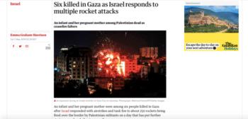 The Guardian - Palestine uproar