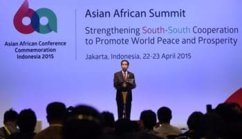 President Jokowi at the Asian African Conference Commemoration
