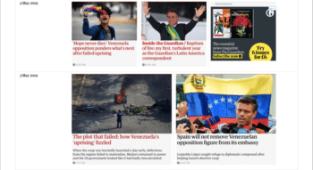 The Guardian - Venezuela uproar