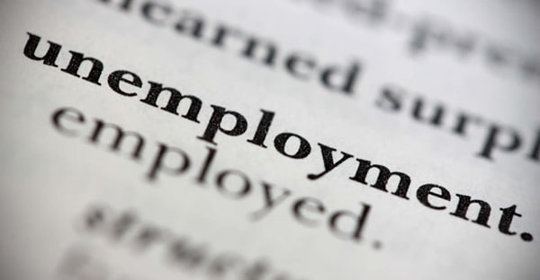 Close up of a dictionary word Unemployment