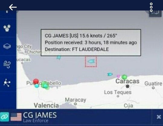 | The reported location of the US Coast Guard James 754 | MR Online