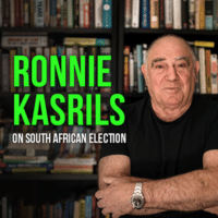 Ronnie Kasrils on South African Election written by Ronnie Kasrils