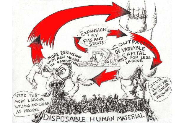 Disposable Human Material by the Capital Drawing Group