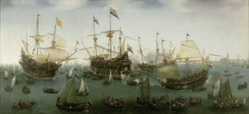 "Hendrik Cornelisz Vroom The Return to Amsterdam of the Second Expedition to the East Indies, 1599 ""Asia > Amsterdam"" at Rijksmuseum, Amsterdam"