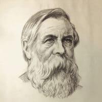 Rudolf Herrmann portrait of Friedrich Engels
