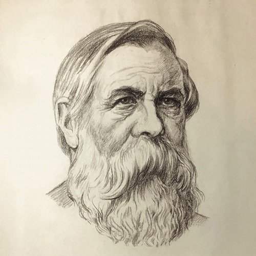 Rudolf Herrmann portrait of Friedrich Engels