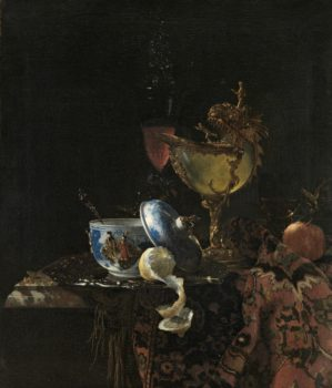 "Willem Kalf Still Life with a Chinese bowl, a Nautilus Cup and Fruit, 1662 ""Asia > Amsterdam"" at Rijksmuseum, Amsterdam"