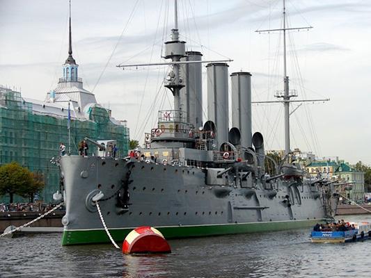 Xi and Putin cruising into a multipolar world- Aurora Cruiser Museum (Wikipedia)