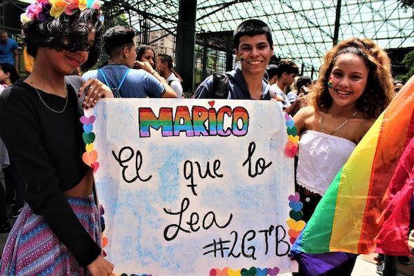 2019 Pride march in Caracas. Photo- Venezuela Analysis.