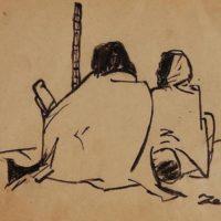 Zainul Abedin, Famine Sketches, 1943.