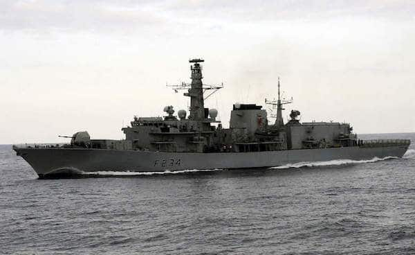 British Royal Navy's frigate, HMS Iron Duke. Photo- Wikimedia Commons