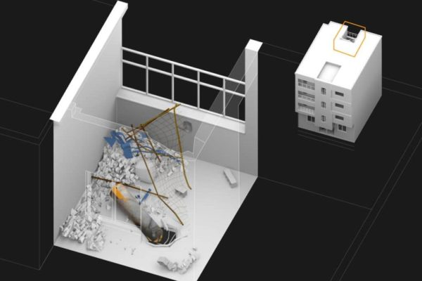 Douma balcony canister in Forensic Architecture's augmented reality