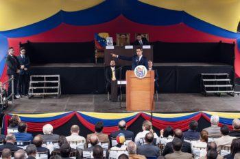 Self-proclaimed Interim President Juan Guaido vowed to reincorporate Venezuela into the TIAR military pact. (@jguaido)