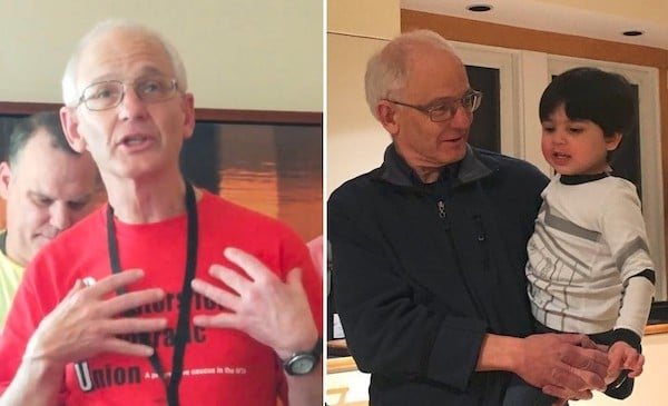 | Two aspects of Dan Clawson As an organizer and teacher and as the grandparent of Danny Left photo Paul Mange Johansen right Laura Clawson | MR Online