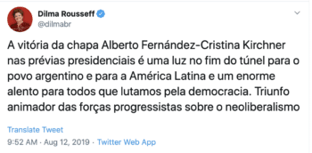 Dilma Rousseff twitter