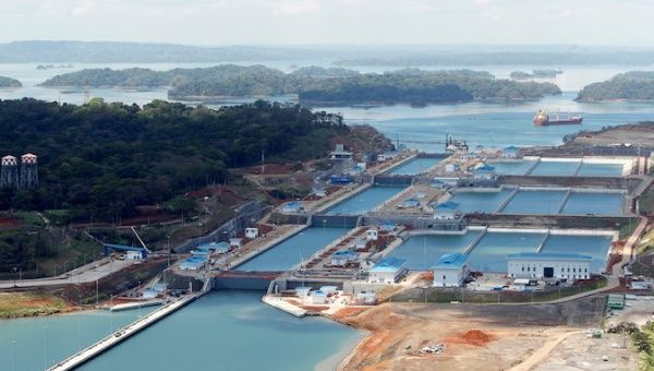 Aerial view of the new Panama Canal expansion project on the outskirt of Colon City. | Photo- Reuters