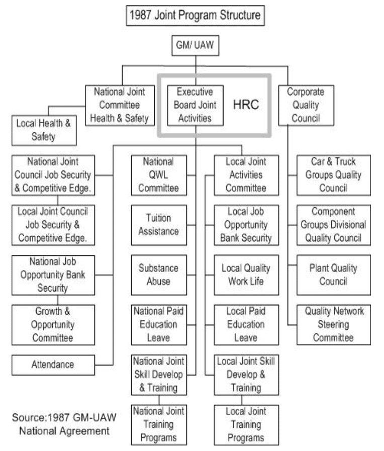 1987 Joint Program Structure